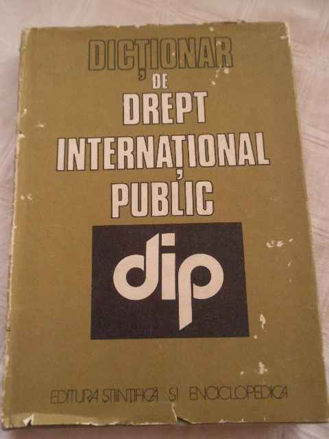 dictionar de drept international public                                                              ionel closca