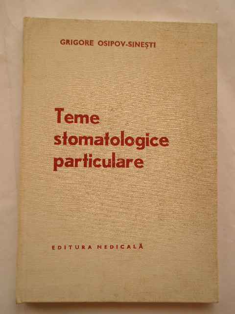 TEME STOMATOLOGICE PARTICULARE                                                            ...