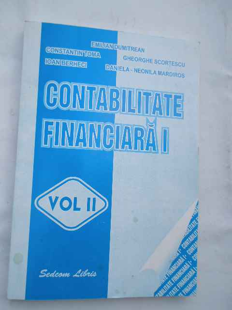 CONTABILITATE FINANCIARA I VOL.2                                                          ...