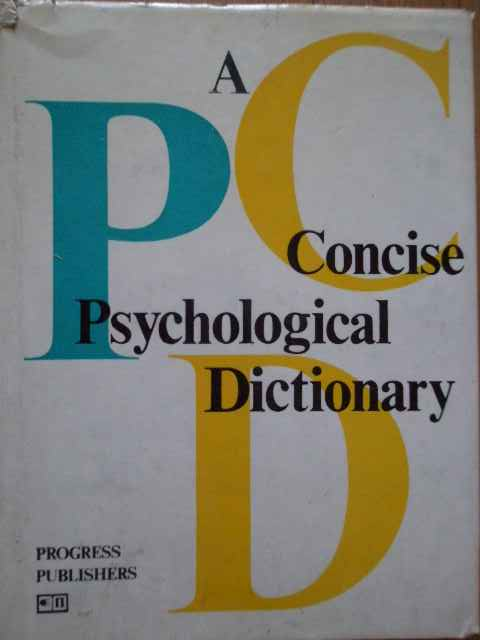 A CONCISE PSYCHOLOGICAL DICTIONARY                                                        ...