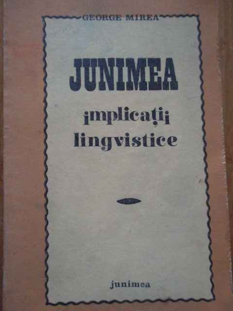 JUNIMEA IMPLICATII LINGVISTICE                                                            ...