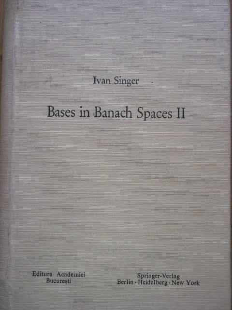 bases in banach spaces ii                                                                            ivan singer