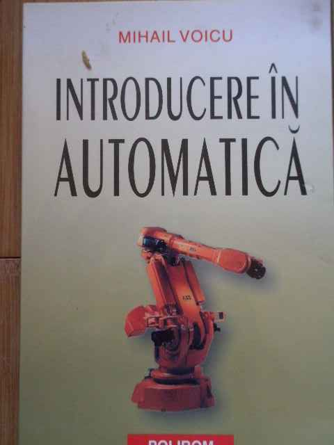 INTRODUCERE IN AUTOMATICA                                                                 ...