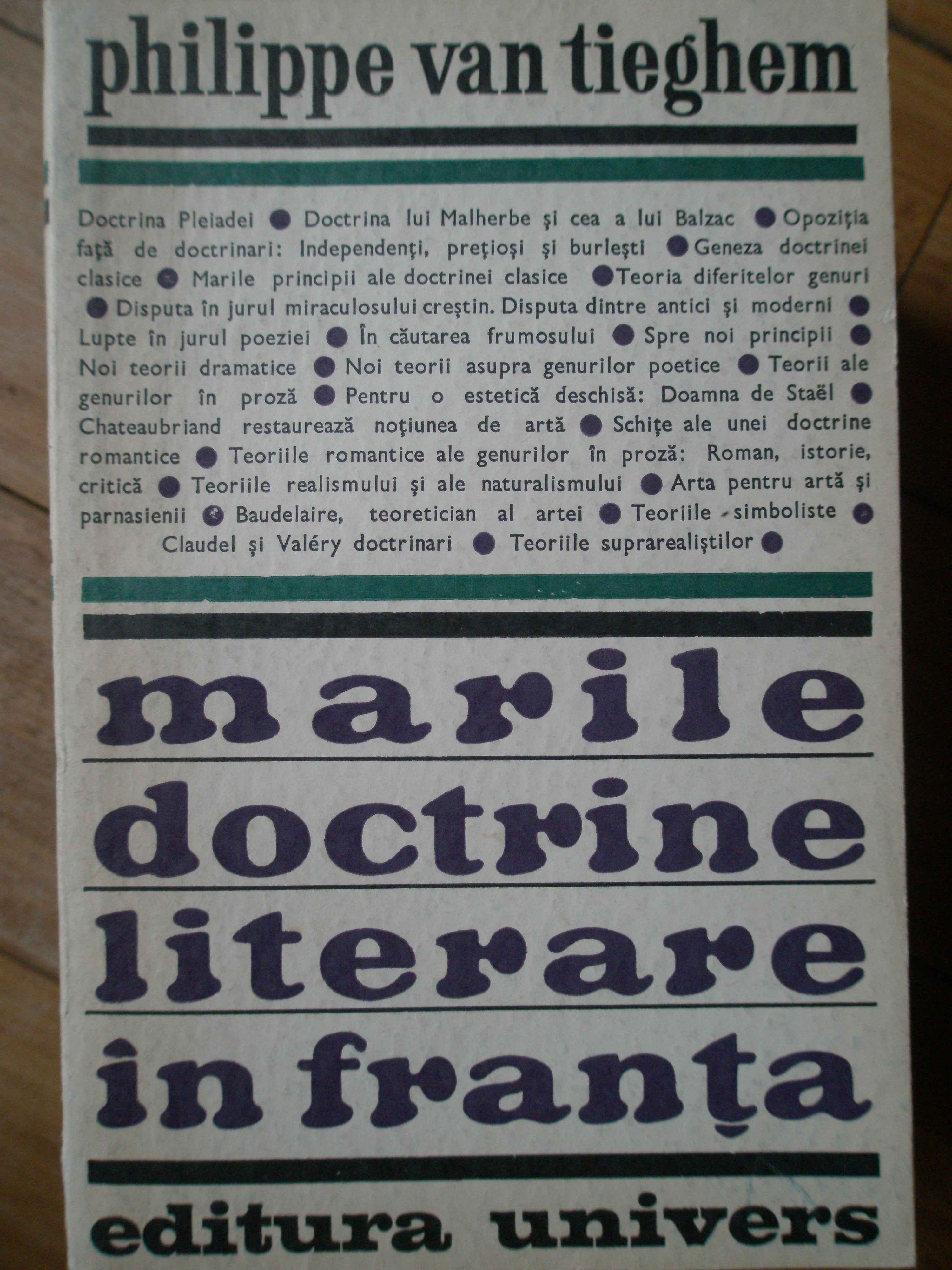 MARILE DOCTRINE LITERARE IN FRANTA                                                        ...