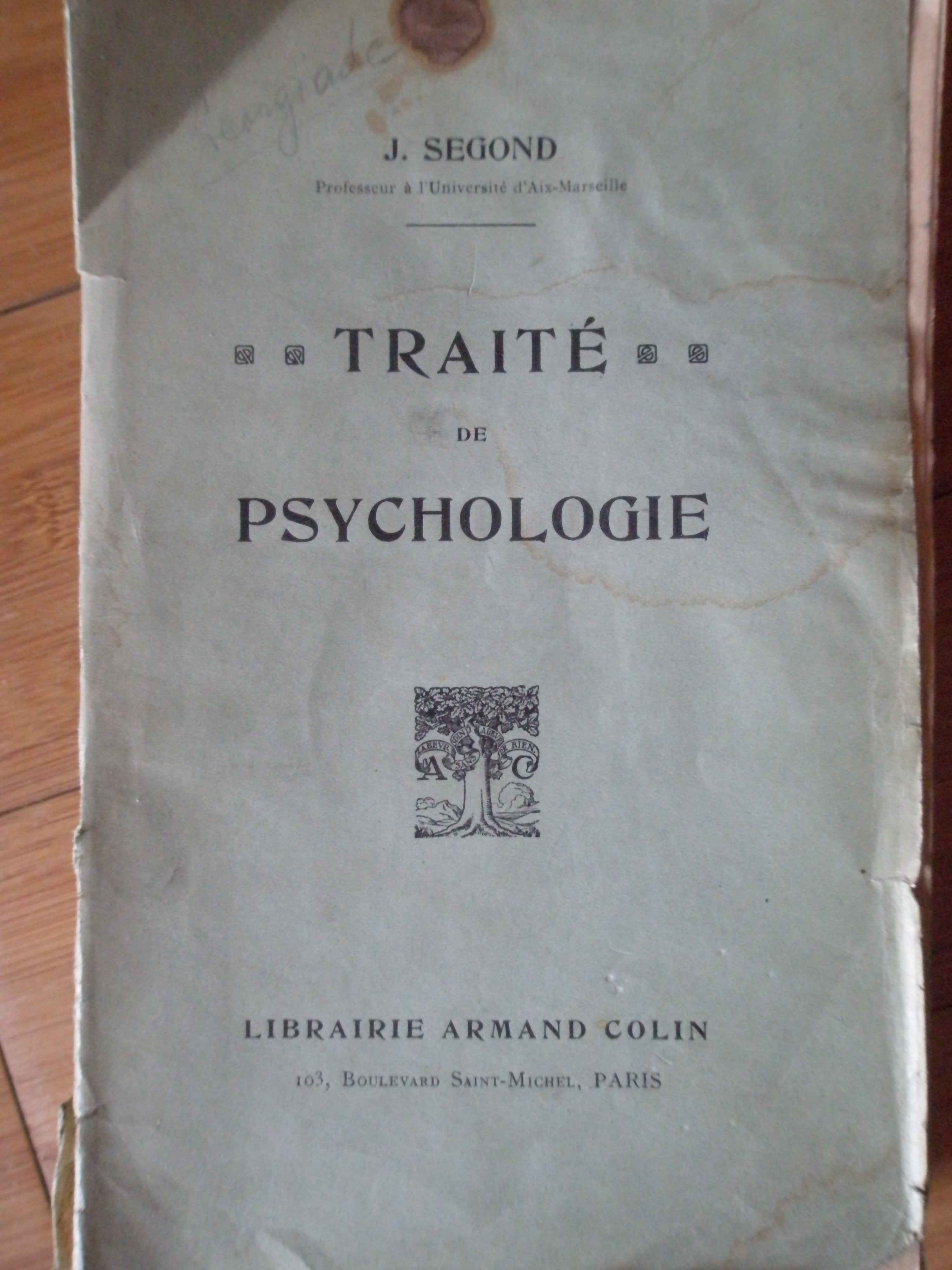 TRAITE DE PSYCHOLOGIE                                                                     ...