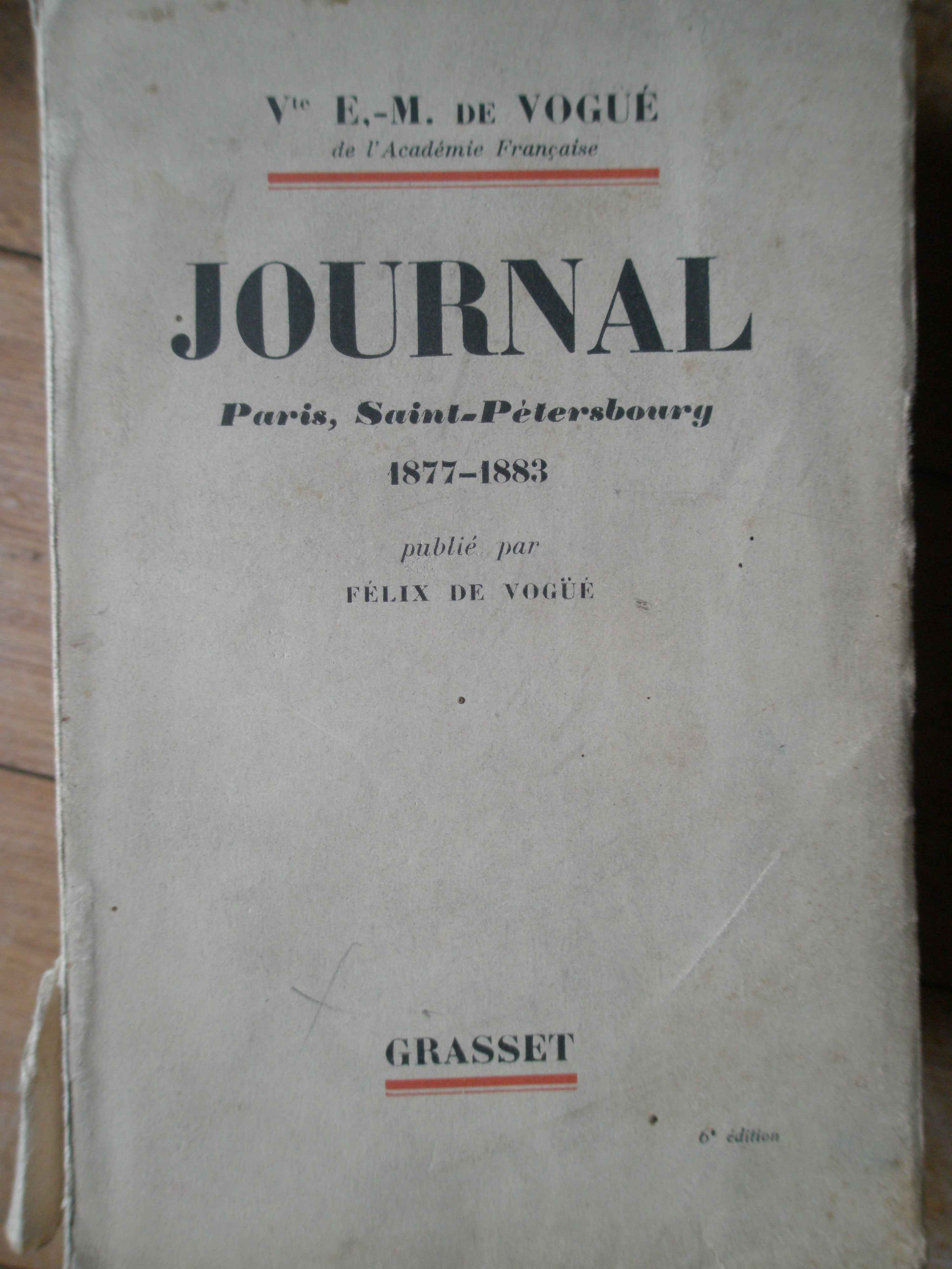 JOURNAL PARIS, SAINT-PETERSBOURG 1877-1883                                                ...