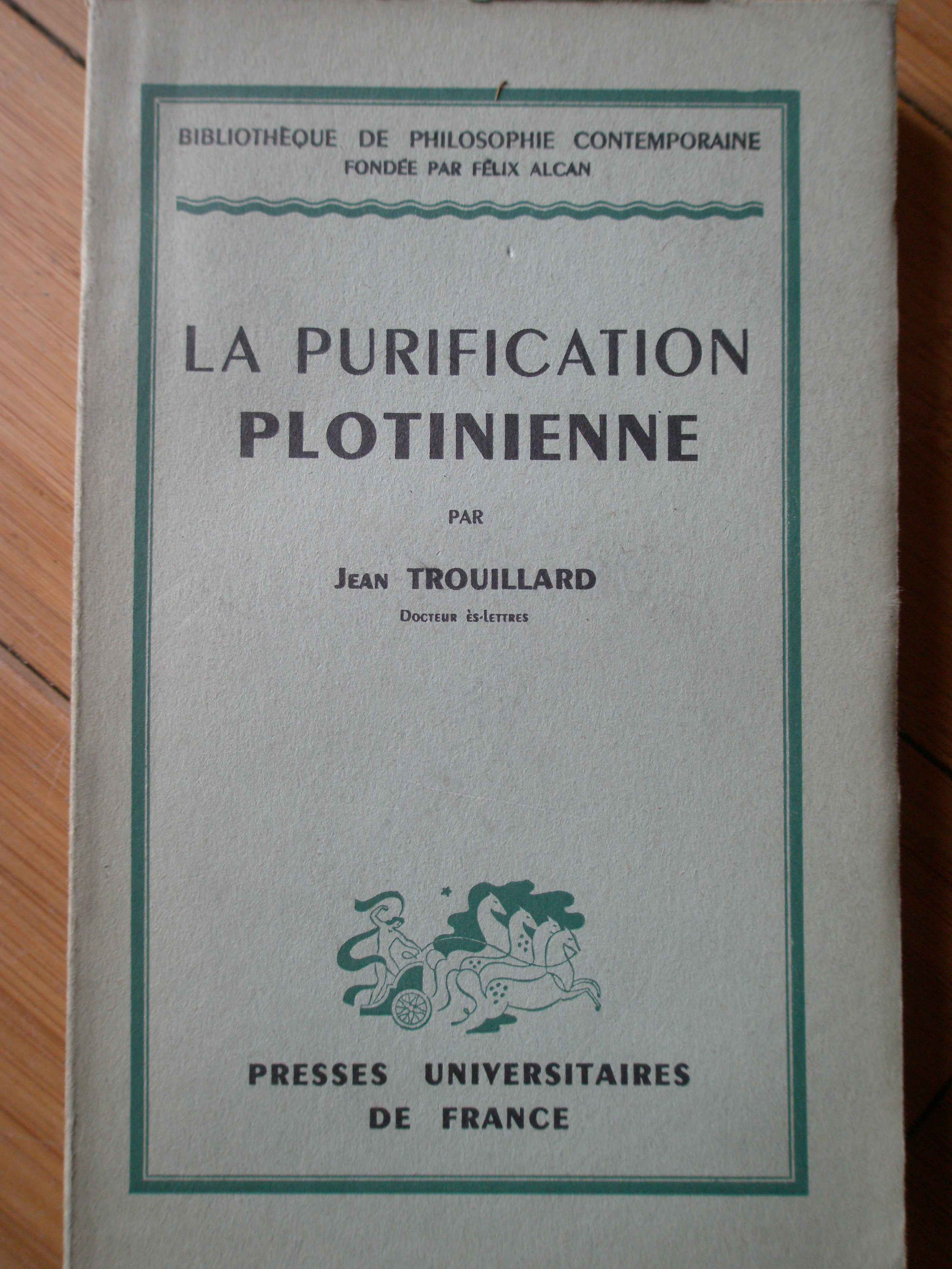 LA PURIFICATION PLOTINIENNE                                                               ...