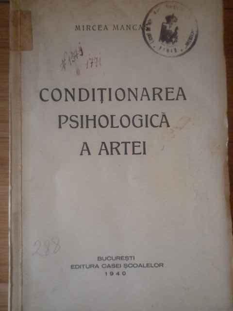 CONDITIONAREA PSIHOLOGICA A ARTEI                                                         ...