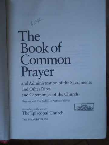 THE BOOK OF COMMON PRAYER                                                                 ...
