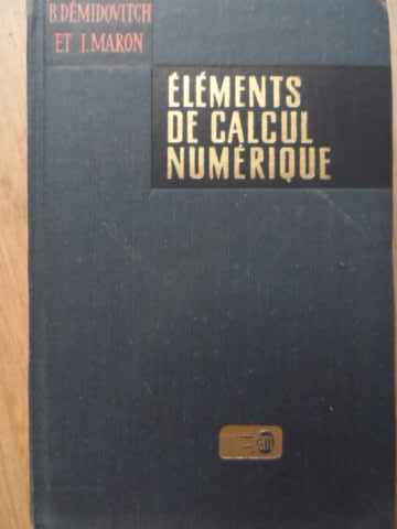 elements de calcul numerique                                                                         b. demidovitch i. maron