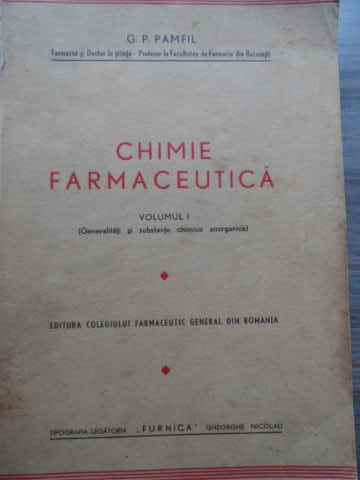 CHIMIE FARMACEUTICA VOL 1                                                                 ...