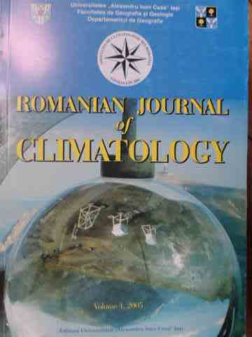 romanian journal of climatology vol 1                                                                colectiv