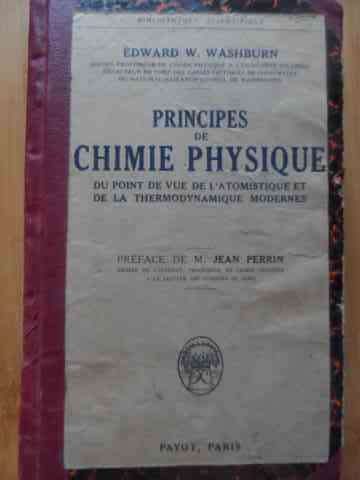 principes de chimie physique                                                                         edward w. washburn