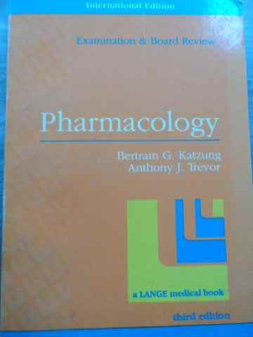 pharmacology                                                                                         bertram g. katzung anthony j. trevor