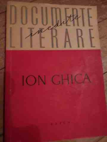 documente literare                                                                                   ion ghica