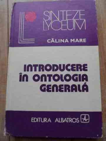 introducere in ontologia generala                                                                    calina mare