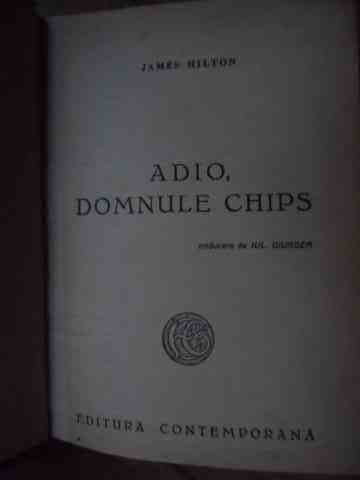 adio, domnule chips                                                                                  james hilton