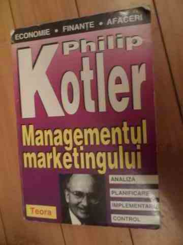 managementul marketingului                                                                           philip kotler