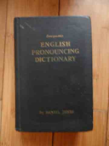 english pronouncing dictionary                                                                       daniel jones