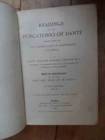 READINGS ON THE PURGATORIO OF DANTE                                                       ...