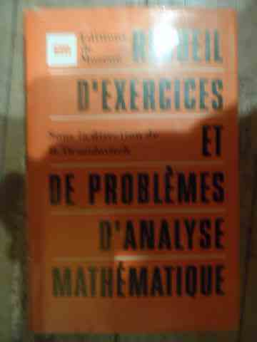 recueil d'exercices et de problemes d'analyse mathematique                                           b. demidovitch
