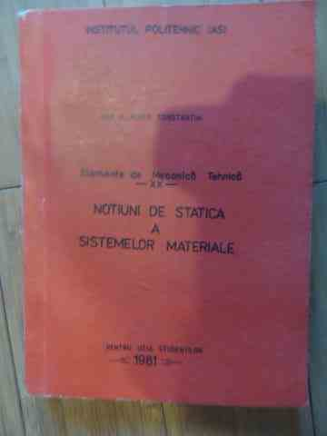 NOTIUNI DE STATICA A SISTEMELOR MATERIALE                                                 ...