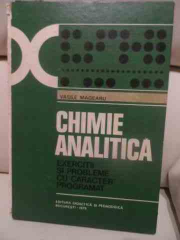 CHIMIE ANALITICA                                                                          ...