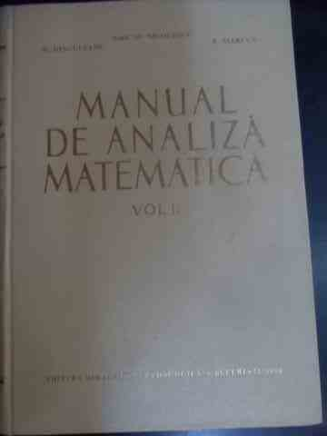 MANUAL DE ANALIZA MATEMATICA VOL.II                                                       ...