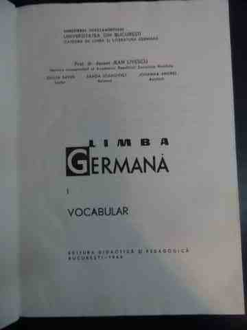 limba germana i vocabular                                                                            colectiv