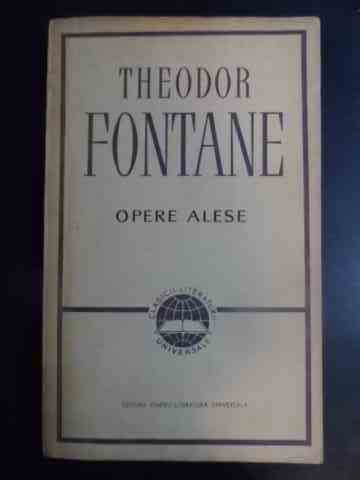 opere alese                                                                                          theodor fontaine