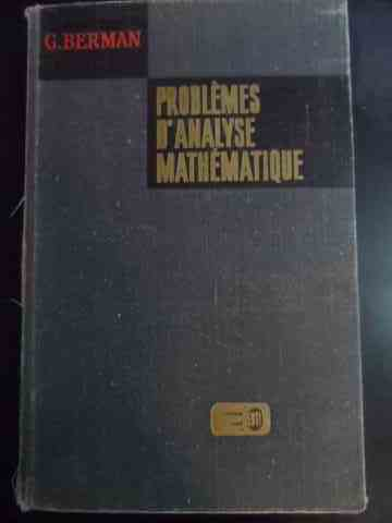 problemes d'analyse mathematique                                                                     g. berman