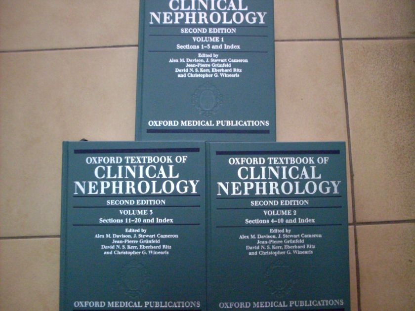 oxford textbook of clinical nephrology second edition                                                colectiv